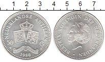 Изображение Монеты Антильские острова 50 гульденов 1980 Серебро UNC- Беатрикс