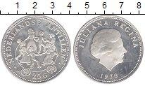 Изображение Монеты Антильские острова 25 гульденов 1979 Серебро Proof- Юлиана