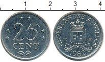 Изображение Монеты Антильские острова 25 центов 1982 Медно-никель XF