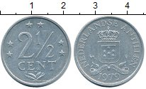 Изображение Монеты Антильские острова 2 1/2 цента 1979 Алюминий XF