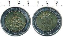 Изображение Монеты Новая Зеландия 50 центов 1994 Биметалл UNC