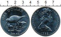 Изображение Мелочь Новая Зеландия 1 доллар 1985 Медно-никель UNC-