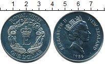 Изображение Мелочь Новая Зеландия 1 доллар 1986 Медно-никель UNC-