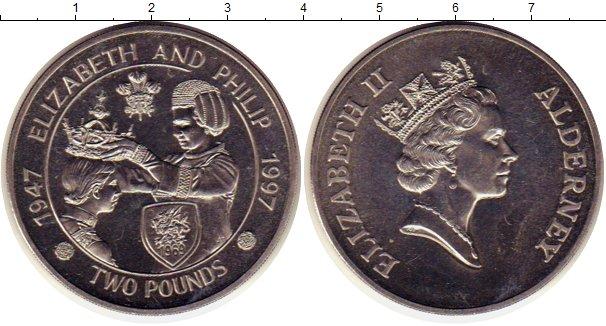 Картинка Монеты Олдерни 2 фунта Медно-никель 1997