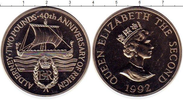 Картинка Монеты Олдерни 2 фунта Медно-никель 1992