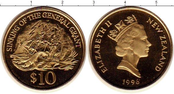 Картинка Монеты Новая Зеландия 10 долларов Латунь 1996