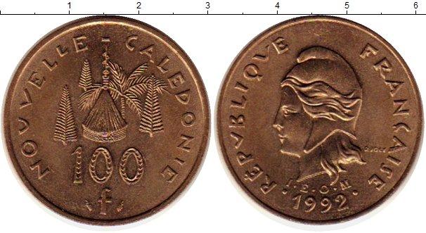 Картинка Монеты Новая Каледония 100 франков Латунь 1992