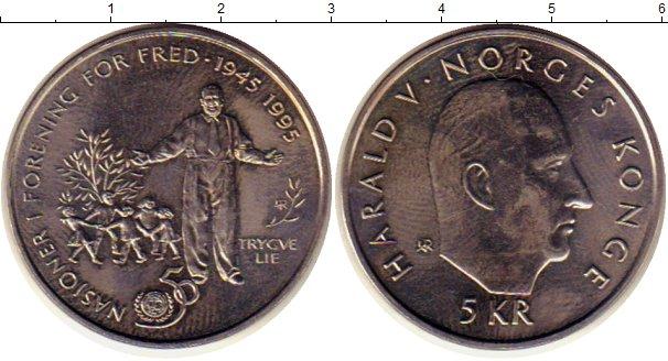 Картинка Монеты Норвегия 5 крон Медно-никель 1995