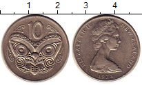 Изображение Монеты Новая Зеландия 10 центов 1978 Медно-никель XF