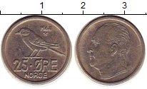 Изображение Монеты Норвегия 25 эре 1968 Медно-никель XF