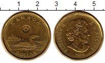 Изображение Монеты Канада 1 доллар 2014 Латунь XF