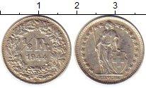 Изображение Монеты Швейцария 1/2 франка 1944 Серебро XF