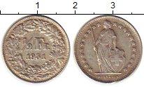 Изображение Монеты Швейцария 1/2 франка 1931 Серебро XF