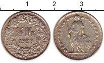 Изображение Монеты Швейцария 1/2 франка 1929 Серебро XF