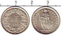 Изображение Монеты Швейцария 1/2 франка 1958 Серебро XF