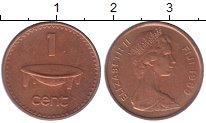 Изображение Монеты Фиджи 1 цент 1969 Бронза XF