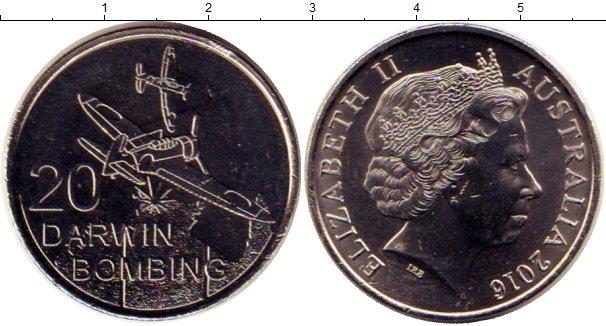 Картинка Мелочь Австралия 20 центов Медно-никель 2016