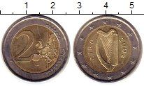 Изображение Монеты Ирландия 2 евро 2002 Биметалл UNC-