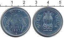 Изображение Монеты Индия 1 рупия 1997 Медно-никель XF