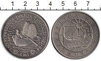 Изображение Монеты Мальта 1 лира 1984 Медно-никель UNC- F.A.O.  Рыбная конфе