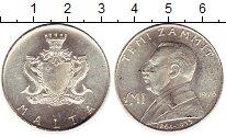 Изображение Монеты Мальта 1 фунт 1975 Серебро UNC- Теми Заммит