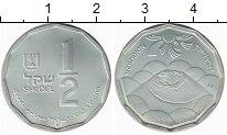 Изображение Монеты Израиль 1/2 шекеля 1983 Серебро UNC-