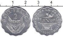 Изображение Монеты Руанда 2 франка 2003 Алюминий XF