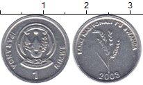 Изображение Монеты Руанда 1 франк 2003 Алюминий XF