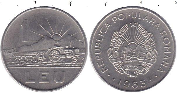 Картинка Монеты Румыния 1 лей Медно-никель 1963