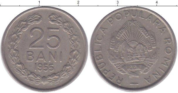 Картинка Монеты Румыния 25 бани Медно-никель 1955