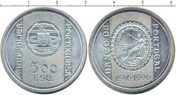 Картинка Монеты Португалия 500 эскудо Серебро 1996