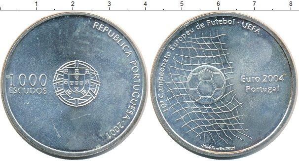 Картинка Монеты Португалия 1.000 эскудо Серебро 2001