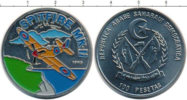 Картинка Монеты Сахара 100 песет Медно-никель 1995