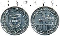 Изображение Монеты Португалия 100 эскудо 1990 Медно-никель UNC- 350-летие восстановл