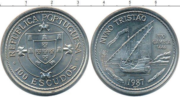 Картинка Монеты Португалия 100 эскудо Медно-никель 1987