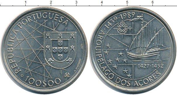Картинка Монеты Португалия 100 эскудо Медно-никель 1989
