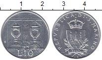 Изображение Монеты Сан-Марино 10 лир 1979 Алюминий UNC
