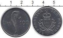 Изображение Монеты Сан-Марино 100 лир 1987 Медно-никель UNC