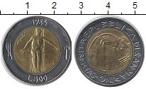 Изображение Монеты Сан-Марино 500 лир 1985 Биметалл UNC-