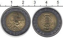 Изображение Монеты Сан-Марино 500 лир 1988 Биметалл UNC Замок