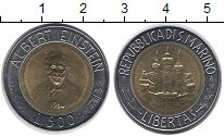 Изображение Монеты Сан-Марино 500 лир 1984 Биметалл UNC