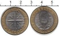 Изображение Монеты Сан-Марино 1000 лир 1999 Биметалл XF R. Познание мира Пут