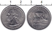 Изображение Монеты США 1/4 доллара 2003 Медно-никель UNC- D   Штаты  и  террит