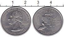 Изображение Монеты США 1/4 доллара 2002 Медно-никель UNC- D   Штаты  и  террит
