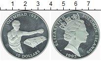 Изображение Монеты Соломоновы острова 10 долларов 1992 Серебро Proof- Елизавета II.  Олимп