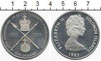 Изображение Монеты Соломоновы острова 5 долларов 1983 Серебро UNC