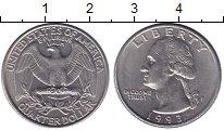 Изображение Монеты США 1/4 доллара 1993 Медно-никель UNC D   Орёл