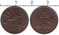 Изображение Монеты Тринидад и Тобаго 1 цент 1994 Медь XF