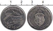 Изображение Монеты Тунис 1/2 динара 1997 Медно-никель XF ФАО