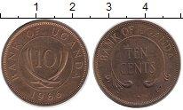 Изображение Монеты Уганда 10 центов 1966 Медь Proof- Бивни